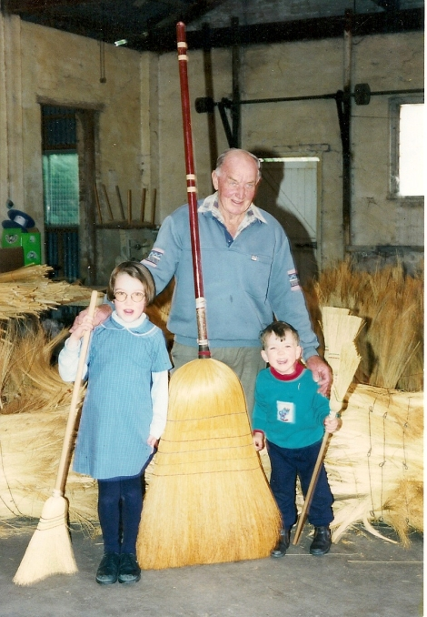 Cliff, Heather and Andrew Wortes with the Biggest Broom in 1999